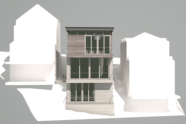 Park City Ski Residence Rear Elevation