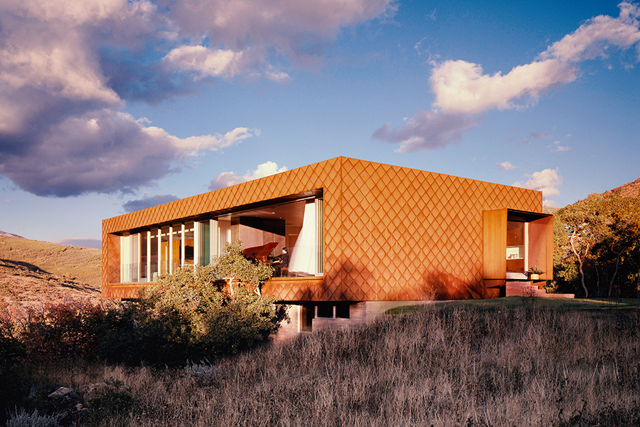 Emigration Canyon Residence Utah Recycled Steel Cladding Exterior
