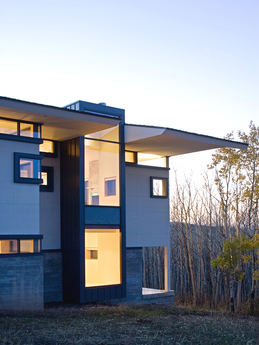 Wyoming Canyon Residence Rectilinear Fenestration
