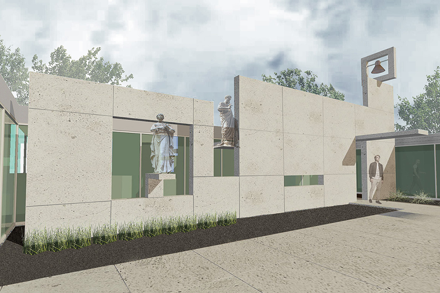 St. Peter's Education Center Exterior Rendering