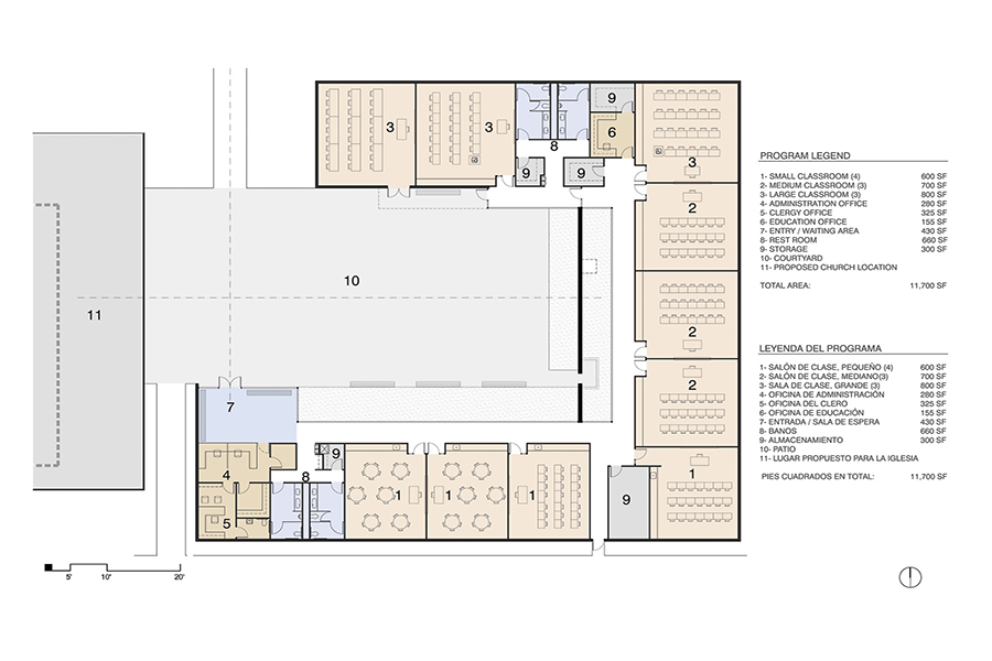 St. Peter's Education Center Program and Floor Plan