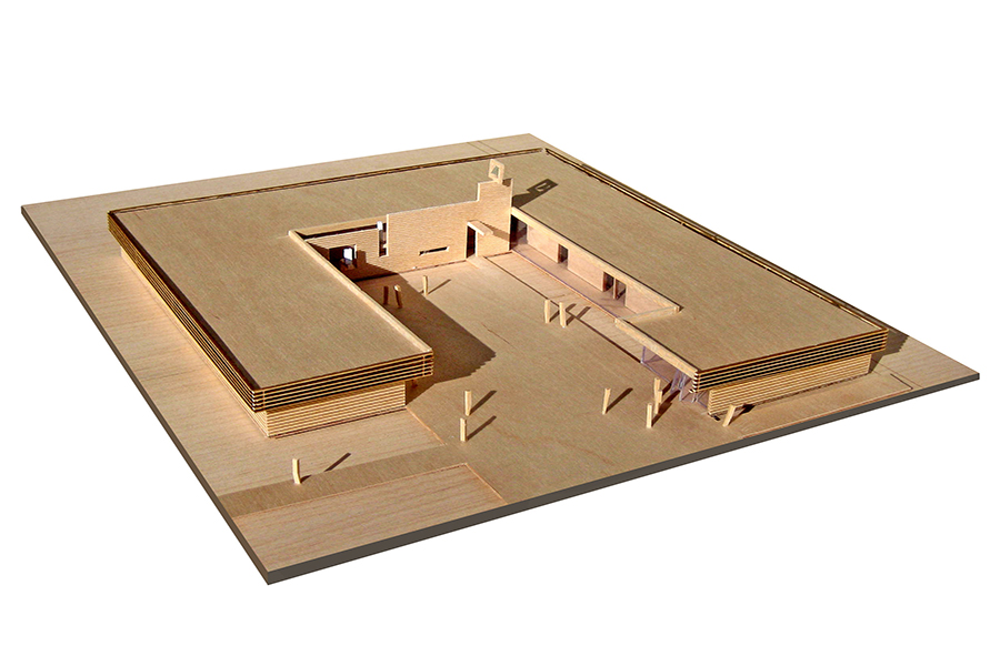 St. Peter's Education Center Wooden Scale Architectural Model