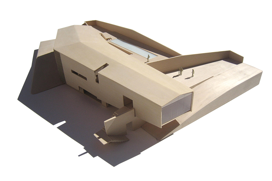 Malibu Canyon Residence Wooden Scale Model