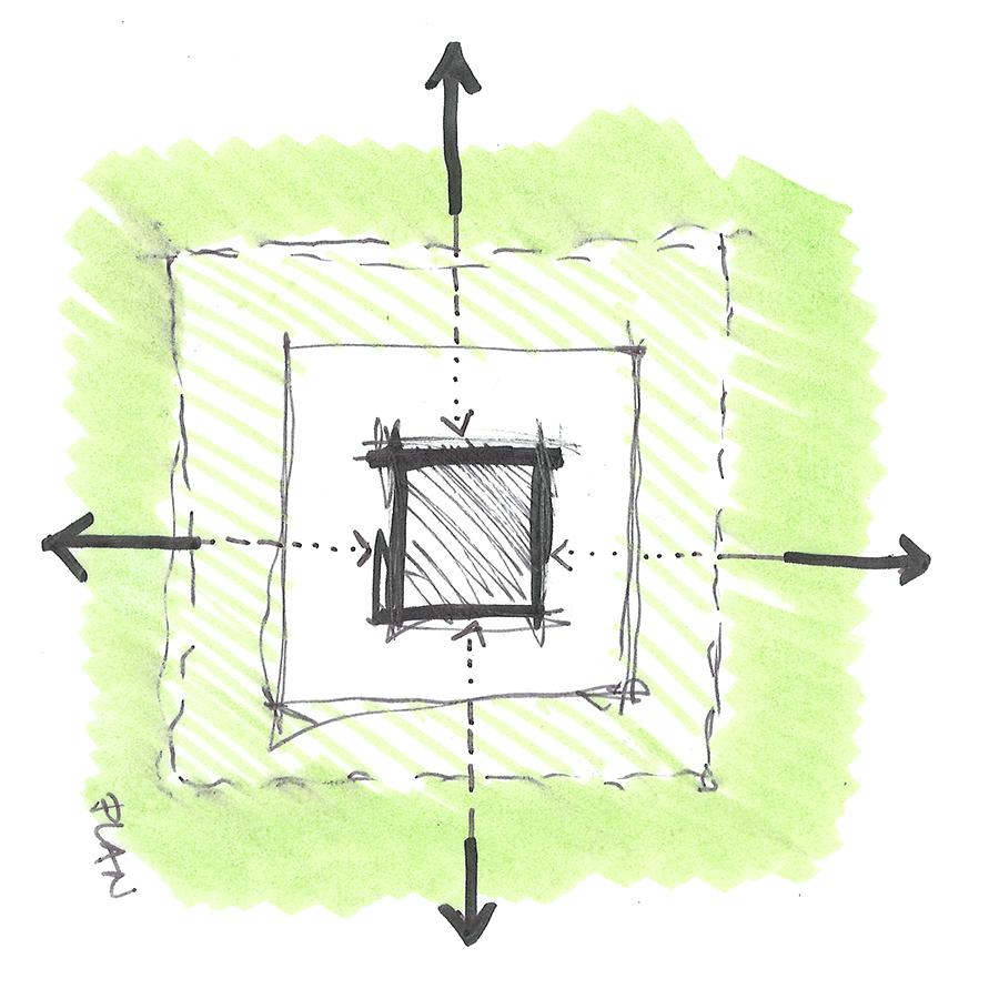 Glashausen Conceptual Sketch