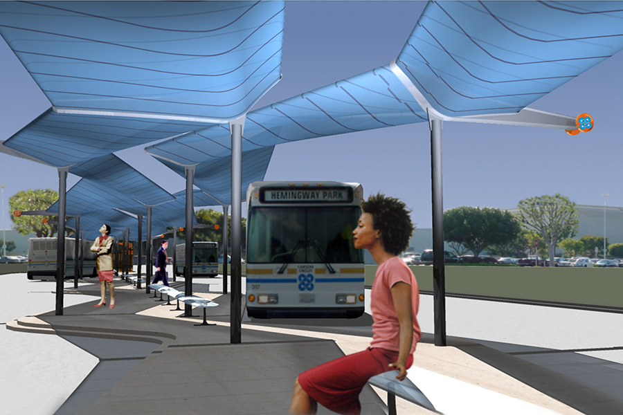 South Bay Pavilion Transit Center Experiential Rendering