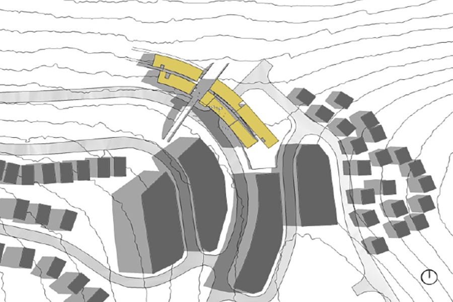 Powder Mountain Ski Lodge Site Plan