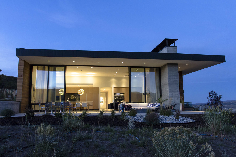 _Sparano Mooney_Park City House_mountain modern night.jpg