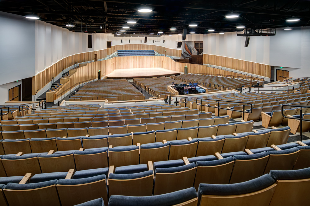 The Newel and Jean Daines Concert Hall,    Utah State University   . Photography by Alan Blakely