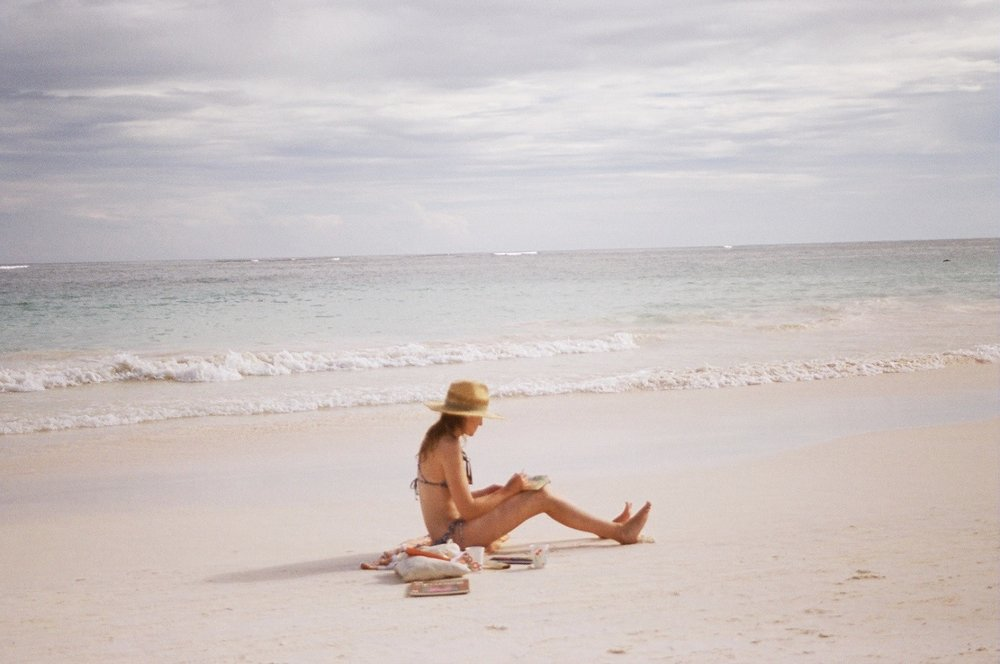 """Camille Painting in Tulum, Mexico"", Photographed by Michelle Buhler"