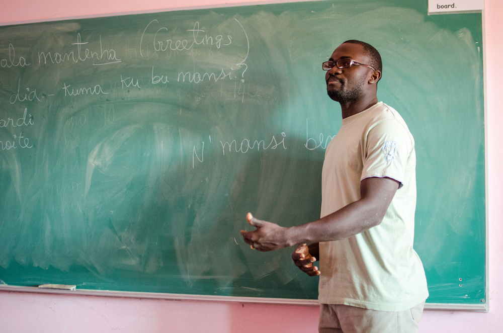 Language lesson at West African Vocational Schools