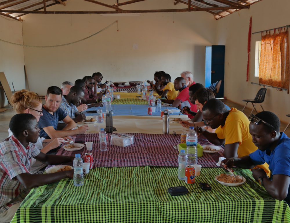 Staff lunch at West African Vocational Schools in Guinea-Bissau