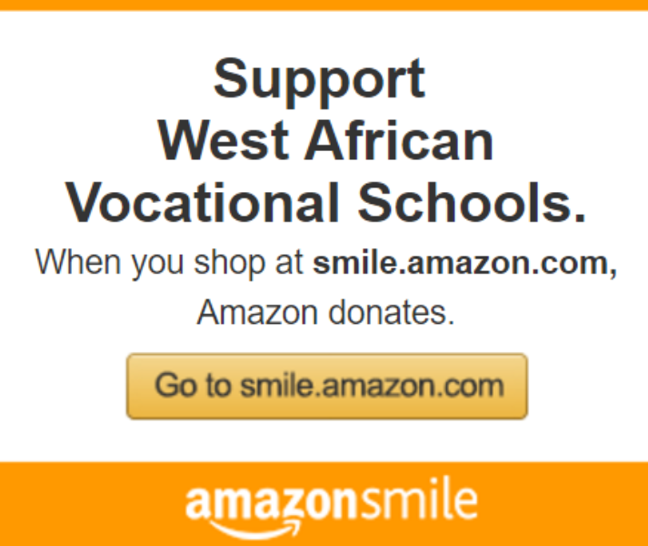 Support West African Vocational Schools by shopping on Amazon Smile