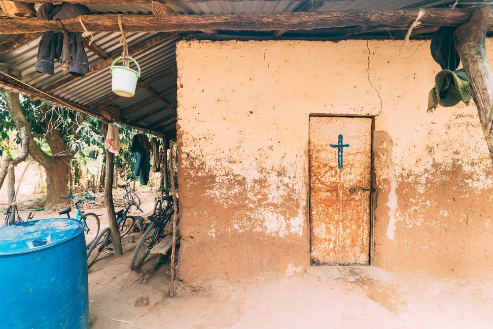 Church cross in Guinea-Bissau West Africa