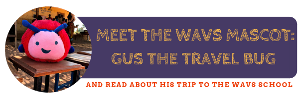Gus the Travel Bug WAVS School Mascot