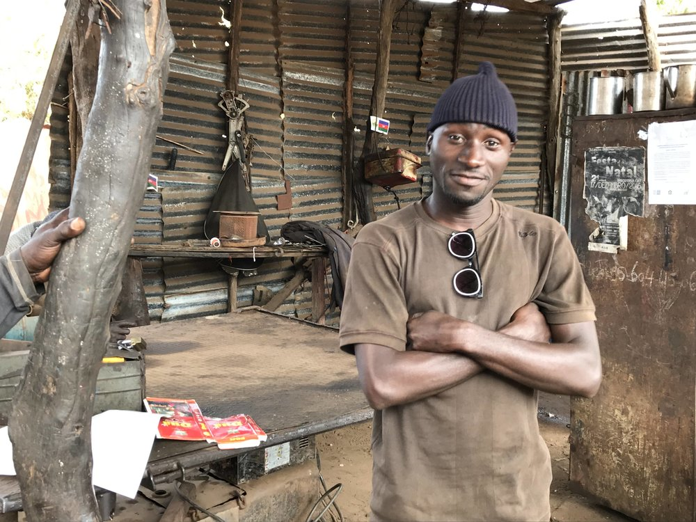 Nilton graduated from the WAVS Vocational School's welding program and was later selected for a one-year internship at the school. He's now back at his workshop, using the new skills he learned.