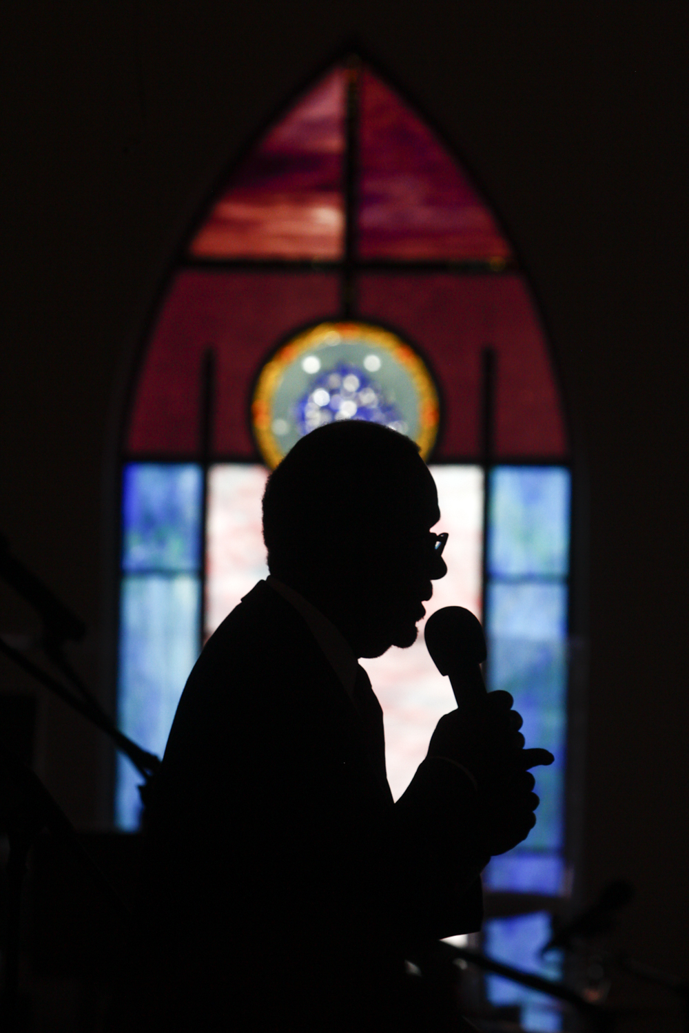 A Sunday service at Mount Zion First African Baptist Church in Charlottesville, Va., on Sunday, August 13, 2017. [Scott P. Yates for The Wall Street Journal]