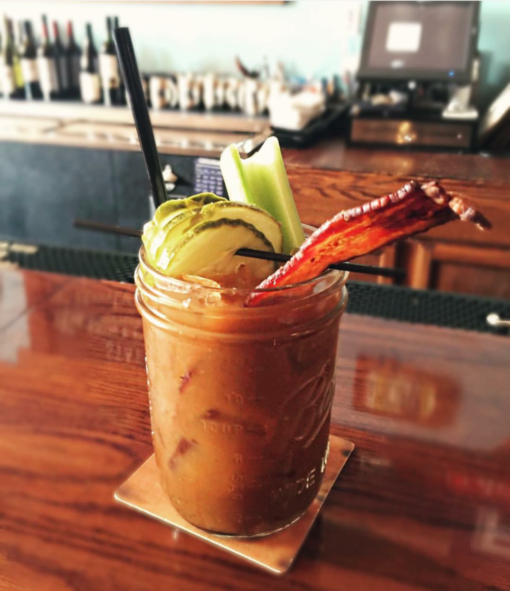 Our Bloody Marys, the perfect lunch beverage!