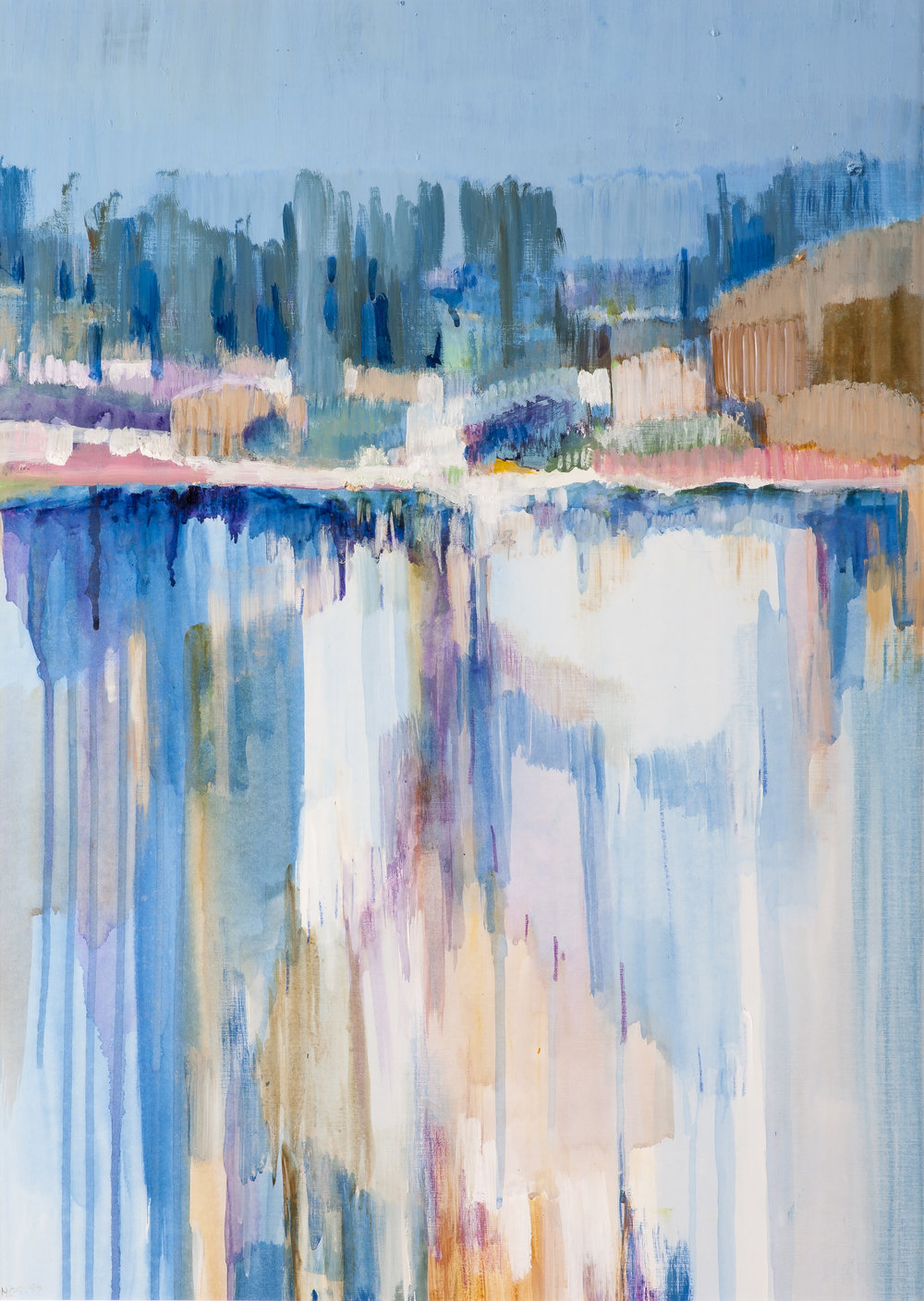 Helen Grey-Smith,Forestry Dam, 1985, acrylic, 67 x 47 cm. Collection of Bankwest / Commonwealth Bank of Australia, Perth. Photograph by Simon Cowling. Courtesy Grey-Smith Estate.