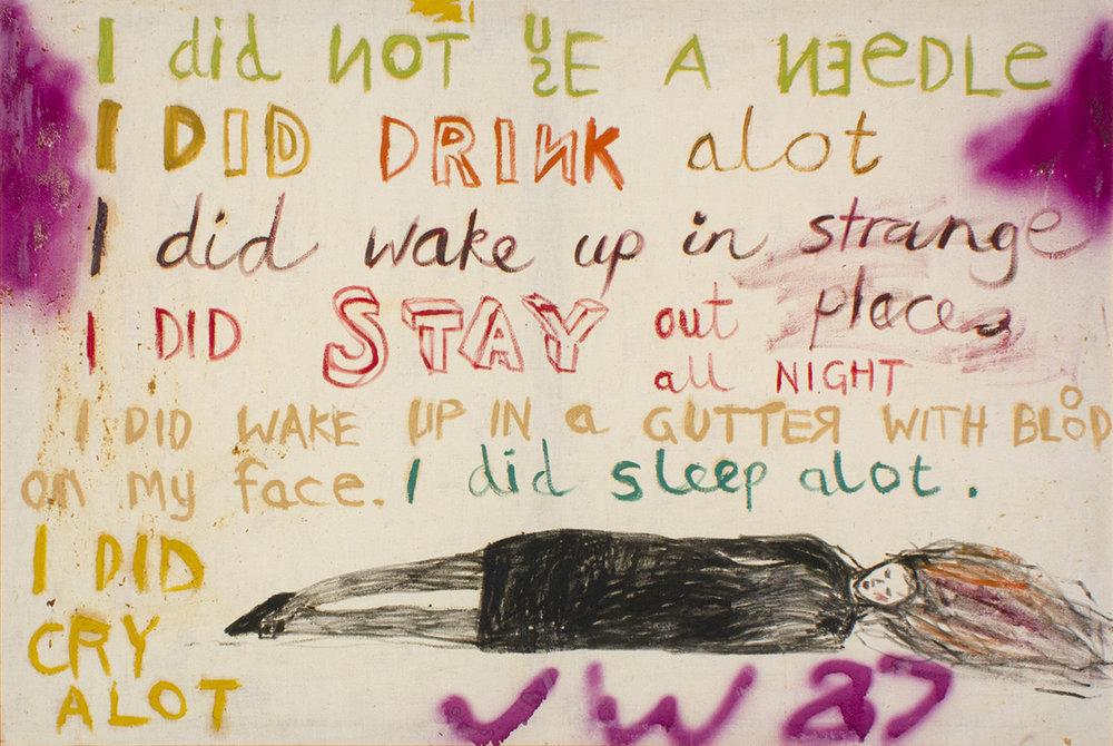 Jenny Watson,  The key painting  1987, oil and gouache on cotton duck.Collection of Roslyn and Tony Oxley,Sydney.