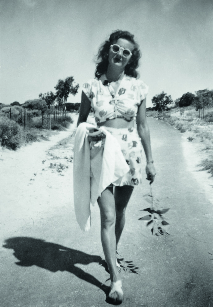Sheila in her beach gear at Rottnest Island, 1946