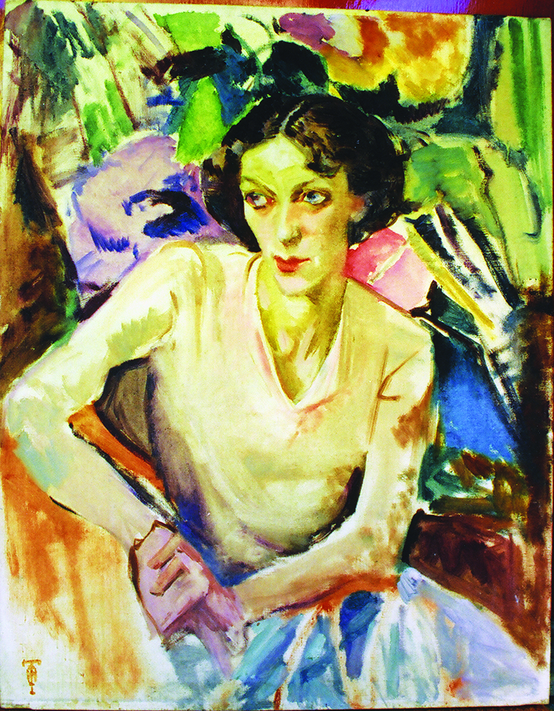 Isabel Hunter Tweddle,  Portrait of Cynthia Reed  c1933, oil on canvas 92.0 x 71.7 cm, Collection Jinx Nolan