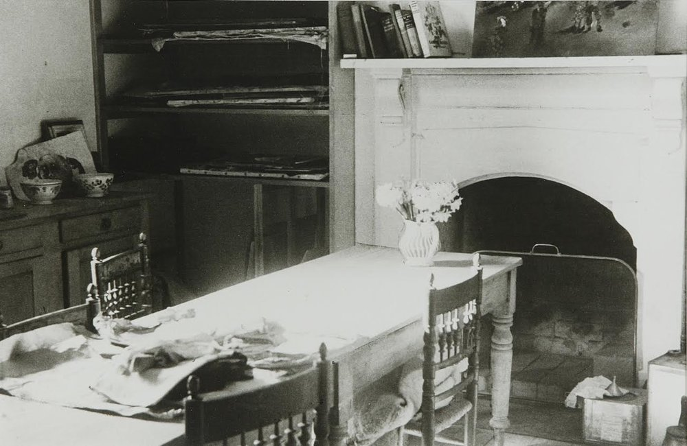 Albert Tucker,  The Dining Room Table  c1945, gelatin silver photograph, 30.4 x 40.3 cm, collection: Heide Museum of Modern Art, Melbourne, gift of Barbara Tucker 2001