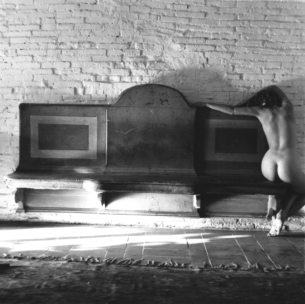 Francesca Woodman,  November has been a slightly uncomfortable baroque  1977-78 Gelatin silver estate print, 20.3 x 25.4 cm, © Charles Woodman, Courtesy Charles Woodman, and Victoria Miro, London/Venice