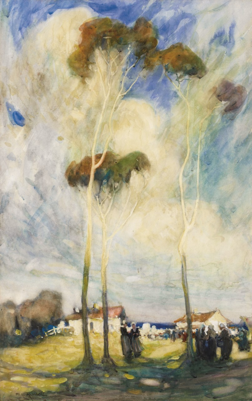 Maud Sherwood, On the way to market 1913, watercolour, 67 x 43 cm, Cruthers Collection of Women's Art, University of Western Australia, courtesy the artist's estate.