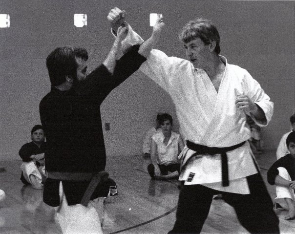 Shihan Jakle (right) with Don Williams, 1980's.