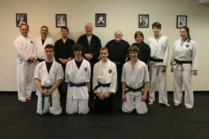 Okinawan Martial Arts teachers and students