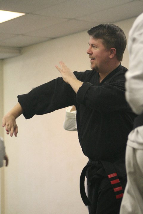 Sensei Scott Olfe demonstrating technique