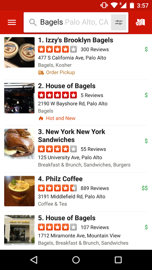 Yelp  helps you find high quality services, shops and restaurants