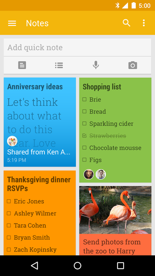 Keep helps you keep notes and lists