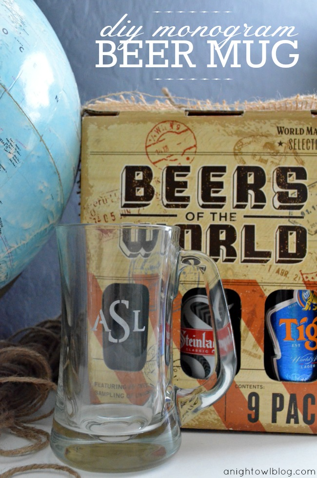 DIY-Monogram-Beer-Mug