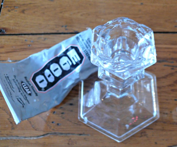 glue-on-candlestick