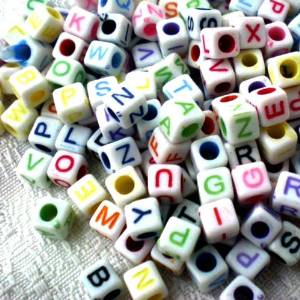jewelry making letter beads