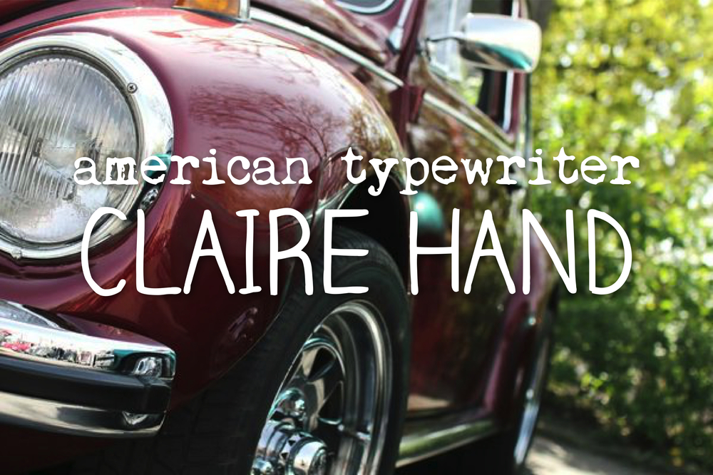 claire-hand-american typewriter-font