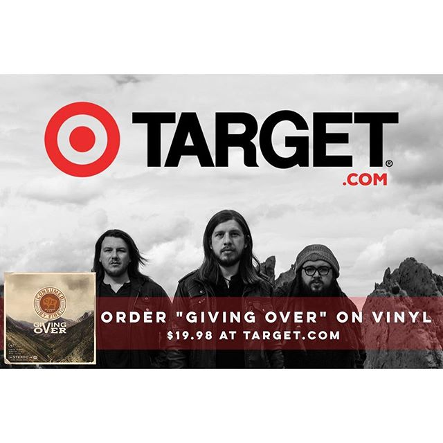 Stoked to have our latest record #GIVINGOVER out on VINYL. Swing on over to target.com and get yours today! #consumedbyfire