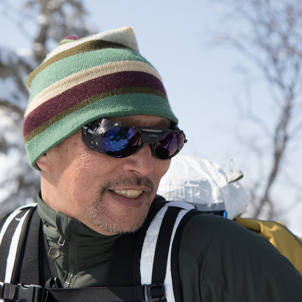 Teton Bros founder, Nori Suzuki in his elements -