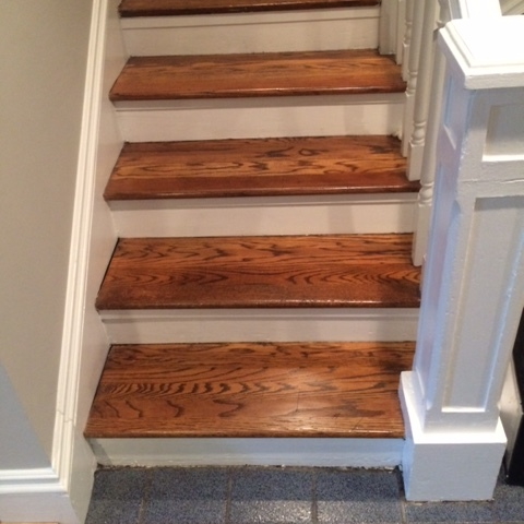 AFTER : CLEANED, BUFFED & PAINTED THE STAIRS SHINE WITH ELEGANCE