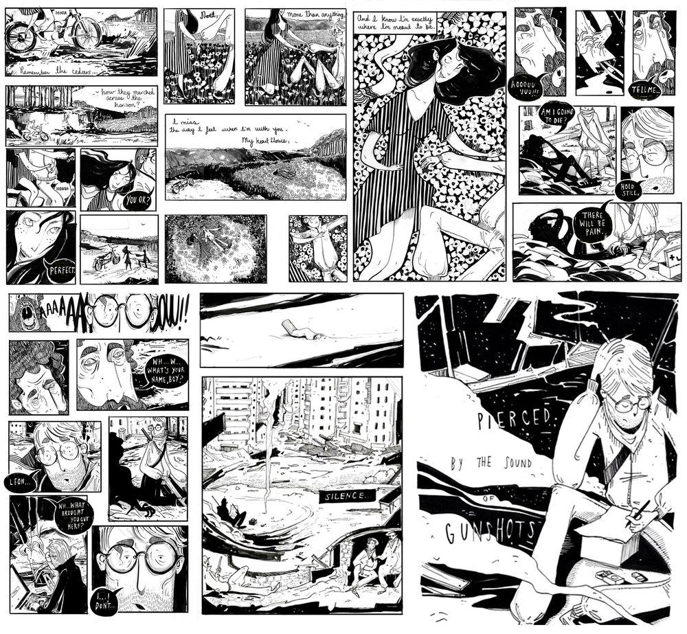 """""""Lui Qui Traverse"""", Self published Graphic Novel"""