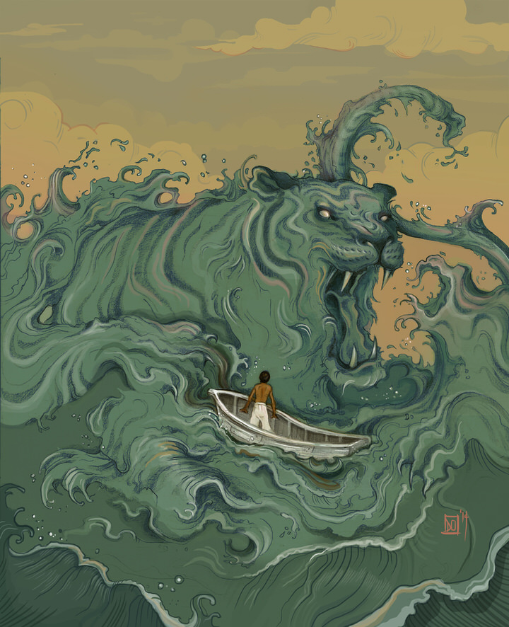 """Life of Pi"", Pencil , Photoshop"