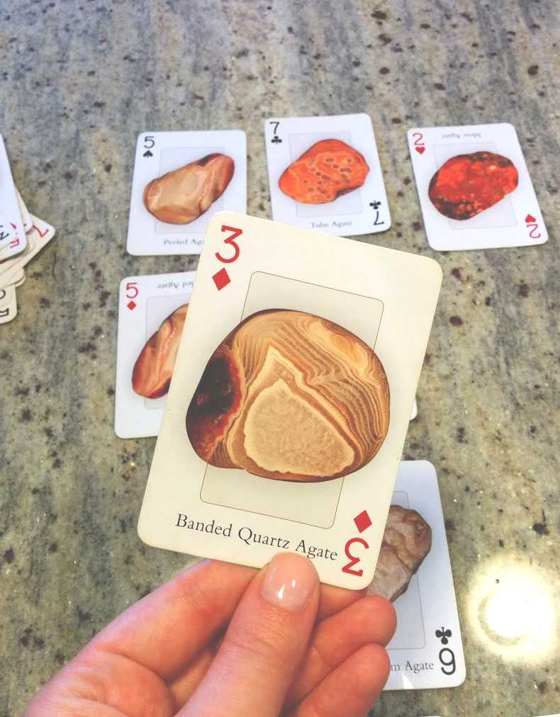 Dan's aunt had this great little deck of cards, all different types of Agates.
