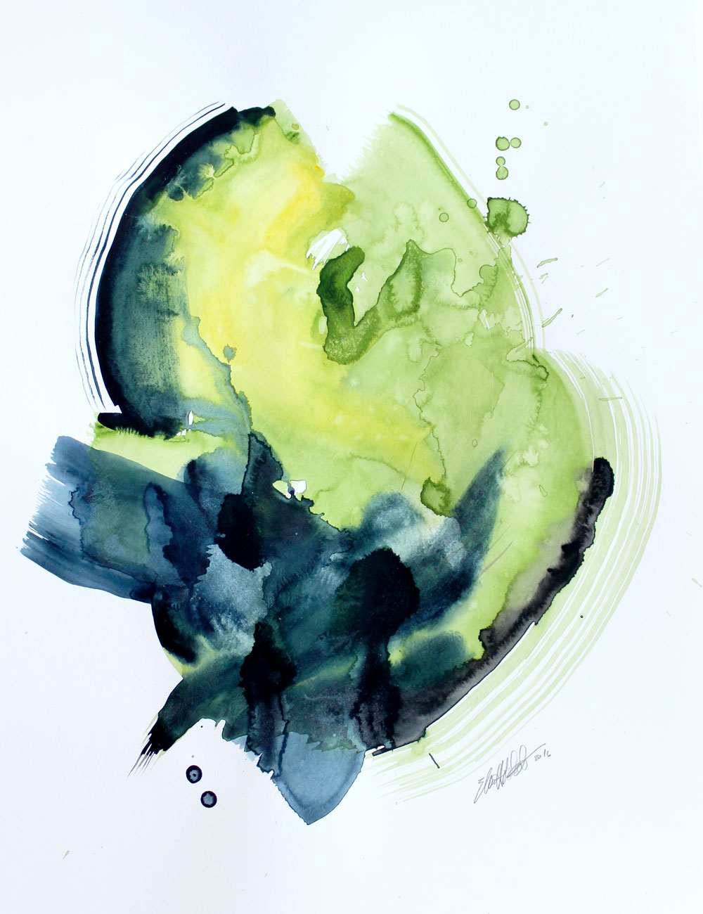 Verdant 15 x 20 Watercolor on Paper  SOLD.