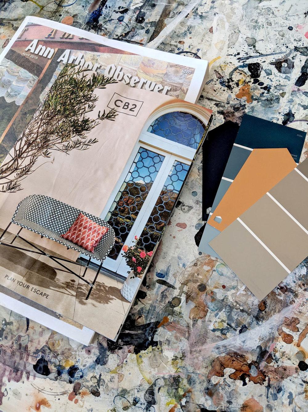 Collage materials!