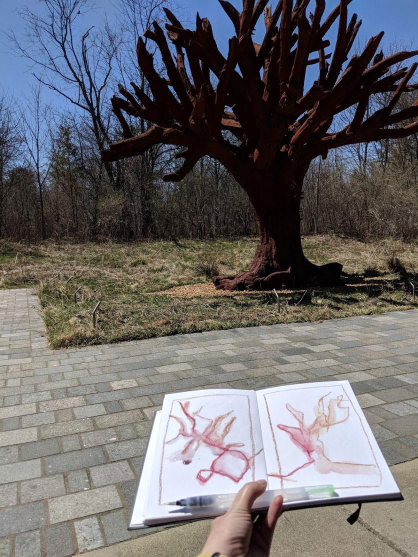 EH Sherman sketching Ai Weiwei