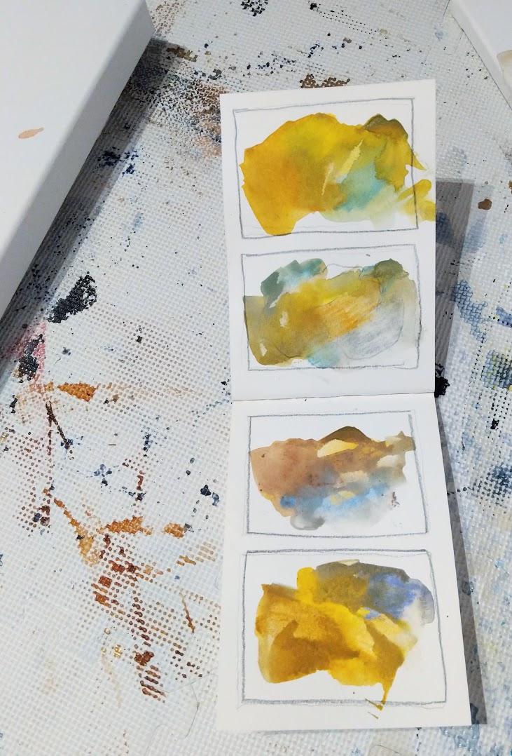 EH Sherman Art - Colors of Colorado sketches