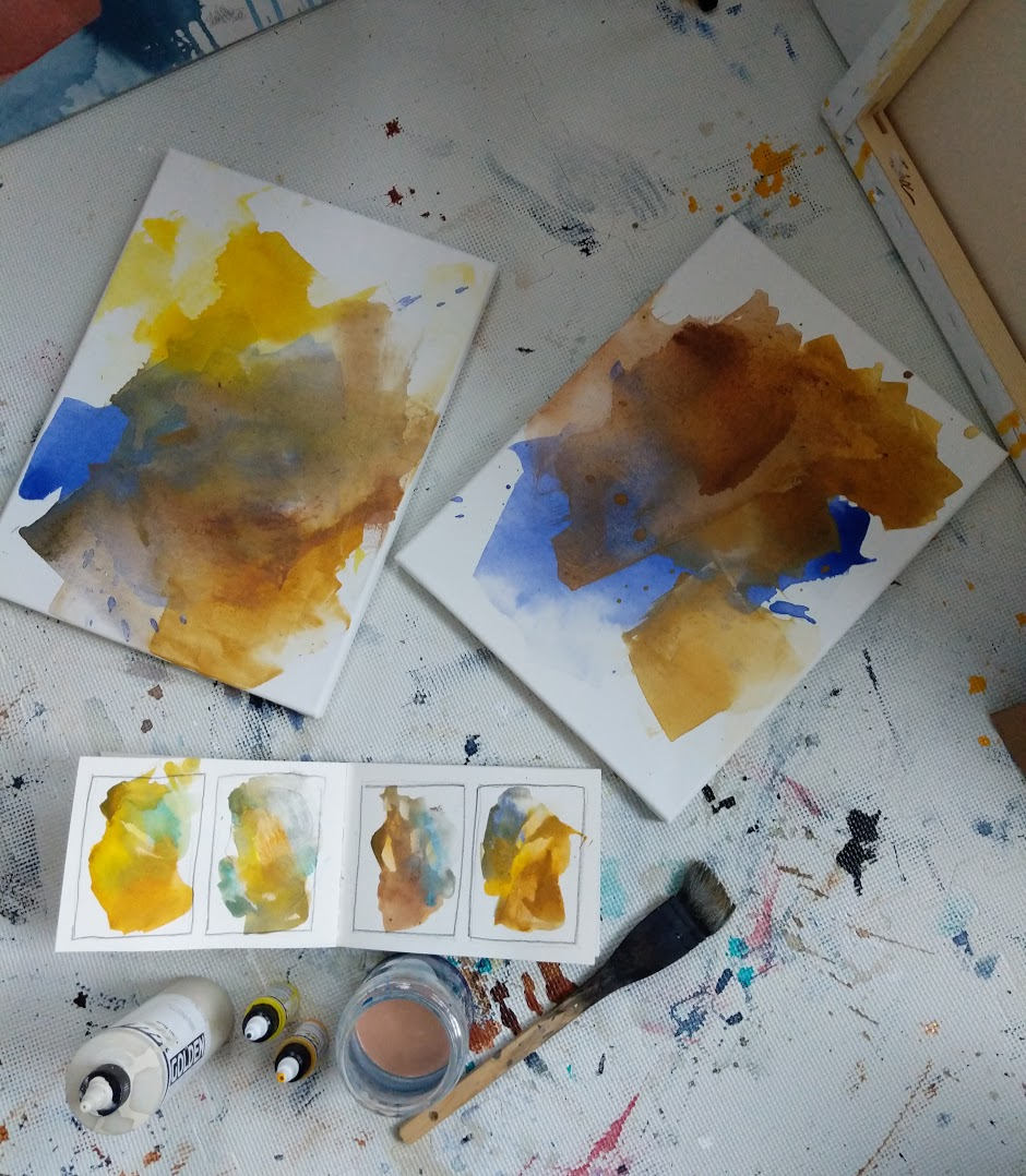 EH Sherman Colors of Colorado Paintings -progress