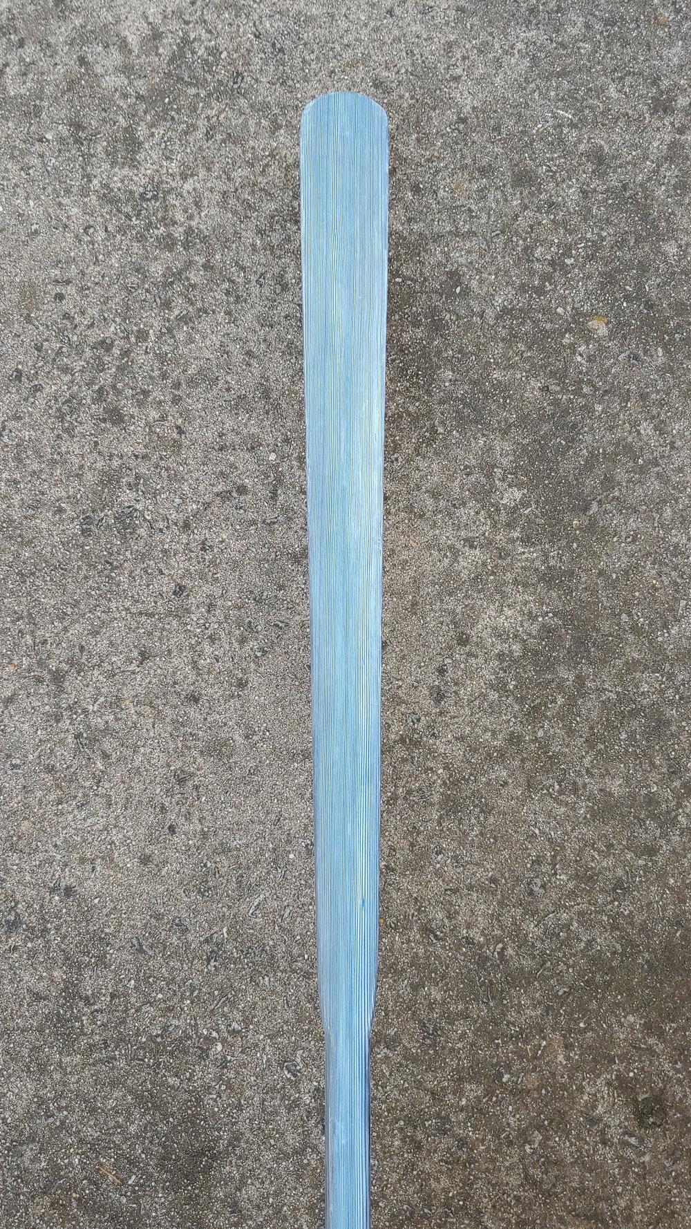 "Length 88"" | Loom 23"" | Blade Width 3 3/8""  Cedar | Interference Blue Epoxy Finish"