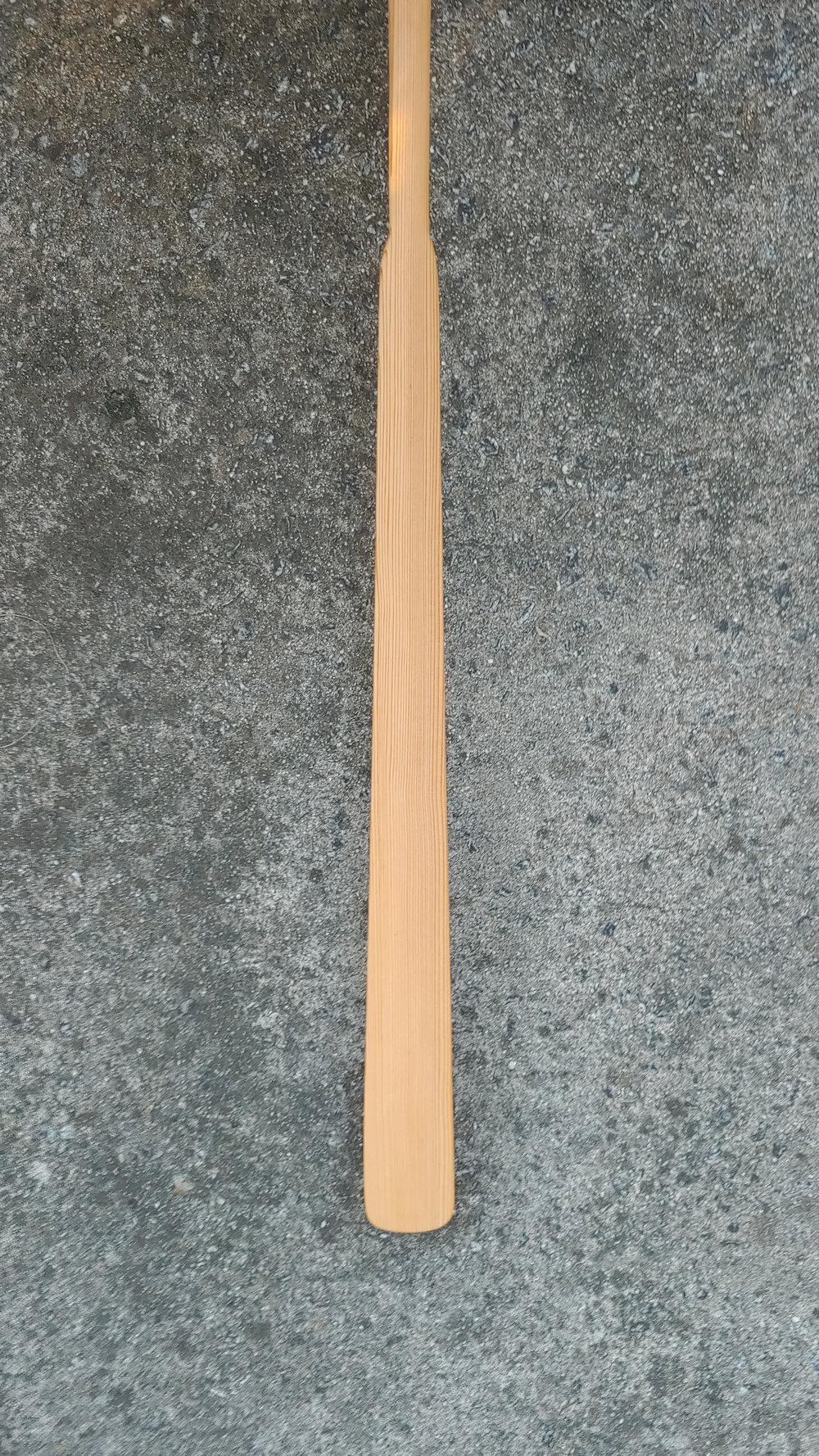 "Length 86"" | Loom 21"" | Blade Width 3 1/4""  Cedar | Oil Finish"